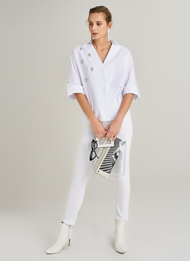 Taş İşlemeli Gömlek-People By Fabrika